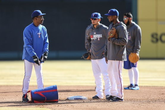 Ron Washington at work