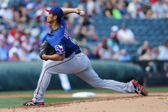 Yu Darvish on the mound