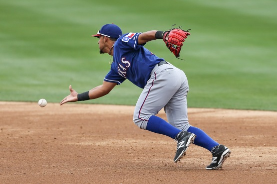 Rougned Odor turning the double play