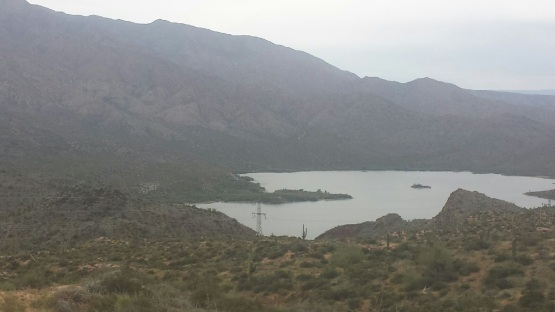 Apache Lake in the mountains east of Phoenix